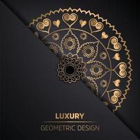 Ethnic arabesque style mandala pattern background vector