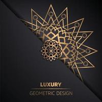 mandala design background in gold color vector