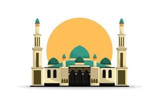 Islamic mosque building vector illustration