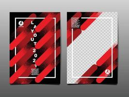 Dynamic sport poster design with abstract diagonal brush lines vector