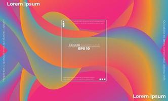 patrón de color fluido abstracto de fondo degradado líquido de color neón vector
