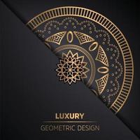Luxury mandala background with golden decoration Premium Vector