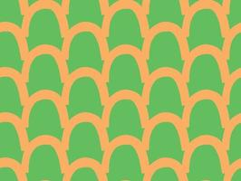 Vector texture background, seamless pattern. Hand drawn, orange, green colors.
