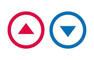 Icon Arrow Line Design Up Down Red And Blue Vector