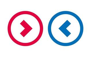 Arrow Left Right Icon BLue And Red Line Design vector