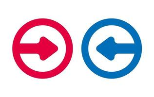 Design Arrow Icon Red And Blue vector