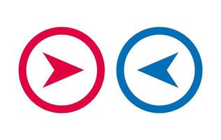 Design Arrow Icon BLue And Red Line vector