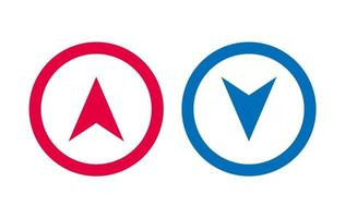 Design Arrow Icon BLue And Red vector