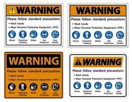 Warning Please follow standard precautions set