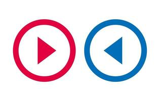 Icon Arrow Line Design Red And Blue Vector