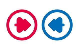 Design Tree Arrow Icon BLue And Red vector