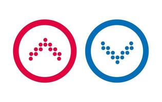 Design Icon Line BLue And Red Arrow vector