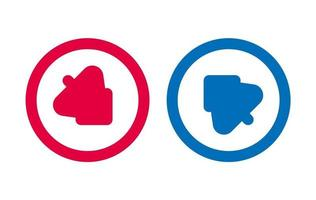 Arrow Tree Line Icon Design Red And Blue vector
