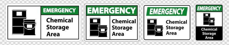 símbolo de almacenamiento de productos químicos de emergencia signo aislar conjunto