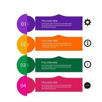 Abstract infographics number options template. Vector illustration.