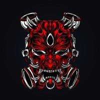 horror face artwork illustration vector