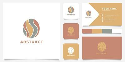 Abstract Oval Logo with Business Card Template vector
