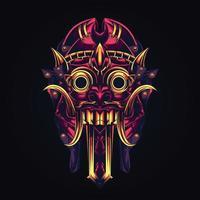 cultura balinesa ilustración de arte vector