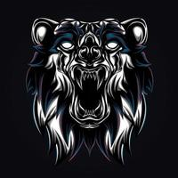 angry bear artwork illustration vector