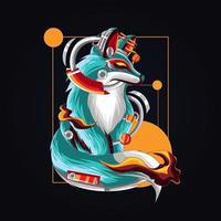 ilustración de arte de zorro eléctrico vector