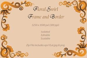 Floral Swirl Frame and Border vector