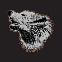 arte vectorial y diseño gráfico de cabeza de lobo vector
