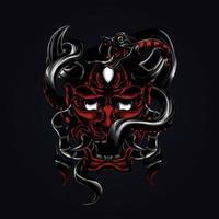 ilustración de obra de serpiente satanás vector