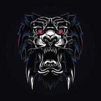 tiger artwork illustration vector