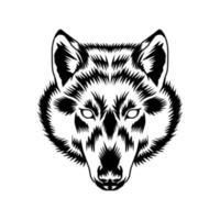 wolf head vector art and graphic design