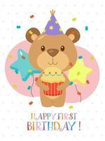 precioso primer diseño de tarjeta de cumpleaños