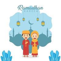 Stock Vector Ramadhan Kareem Background