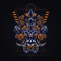 cultural balinese indonesian artwork illustration vector