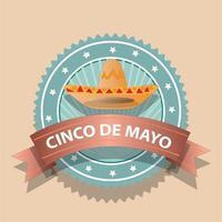 Cinco de Mayo Sign and Badge vector