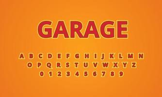 text effect garage font alphabet vector
