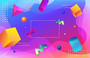 Colorful Gradient 3D Geometric Template Background