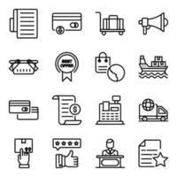paquete de compra de iconos lineales