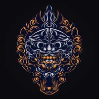 culture balinese artwork illustration vector