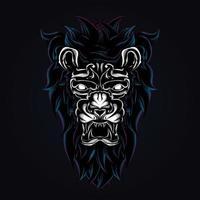 lion artwork illustration vector