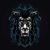 lion darkness artwork illustration vector