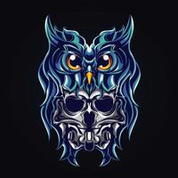owl devil artwork illustration vector