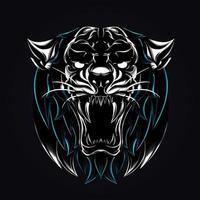 angry tiger artwork illustration vector