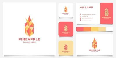 Colorful Geometric Pineapple Logo with Business Card Template vector