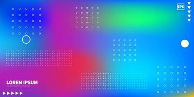 hermosos degradados de colores abstractos en movimiento. Es un fondo borroso claro y colorido. vector