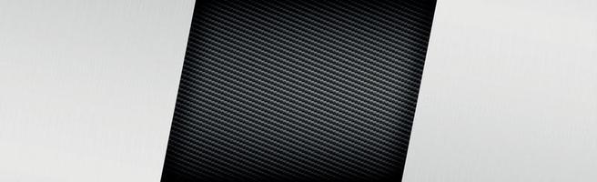 Fondo de textura de fibra de carbono y metal abstracto - ilustración vectorial