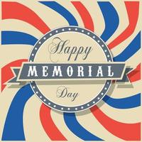 Memorial Day Sign and Badge vector