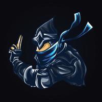 ilustración de ilustraciones de guerra ninja vector