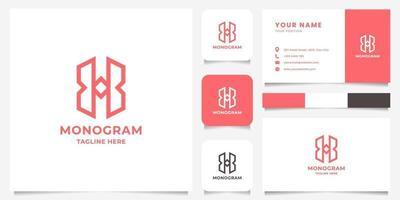 Logotipo de letra x simple y minimalista con plantilla de tarjeta de visita vector