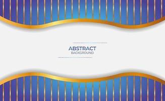 fondo abstracto azul y dorado vector