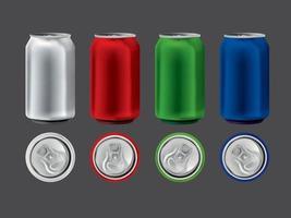 vector de latas de bebida