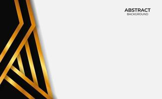 Abstract Background Gold And Black Style vector